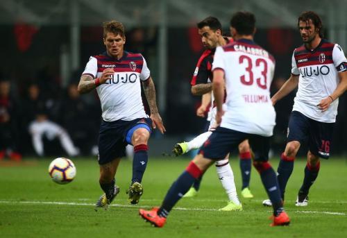 Suso membuka keunggulan AC Milan di penghujung babak pertama (Foto: Laman resmi AC Milan)