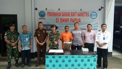 TNI Musnahkan Ganja