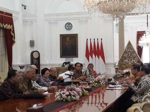 BPIP Temui Presiden Jokowi di Istana Merdeka (foto: Fakhrizal Fakhri/Okezone)