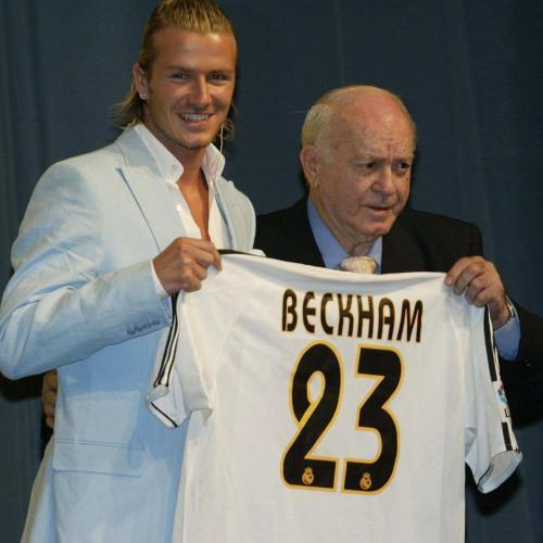 David Beckham pernah memakai nomor 23 di Real Madrid