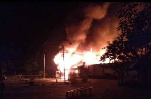 Kerusuhan di Rutan Siak, Riau. (Foto: Banda Haruddin Tanjung/Okezone)