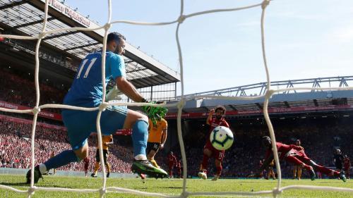 Gol Sadio Mane vs Wolves (Foto: Premierleague)