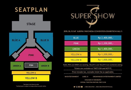 Tiket konser Super Junior