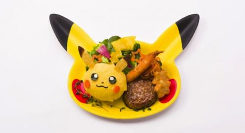 hearty pikachu plate