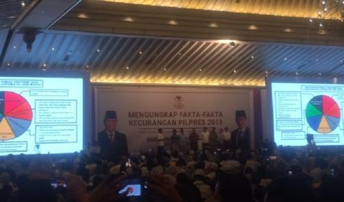 BPN Prabowo-Sandi paparkan kecurangan Pemilu 2019. (Foto : Harits Tryan Akhmad/Okezone)
