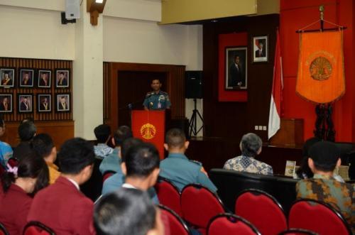 Danseskoal Laksda TNI Amarulla Octavian, Beri Kuliah Umum di Universitas Indonesia (UI), Depok, Jawa Barat (foto: Ist)