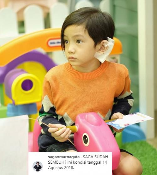 Update kondisi telinga anak Anji, Omar Saga Nagata.