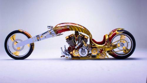 Motor Modifikasi Nehemes Berlapis Emas