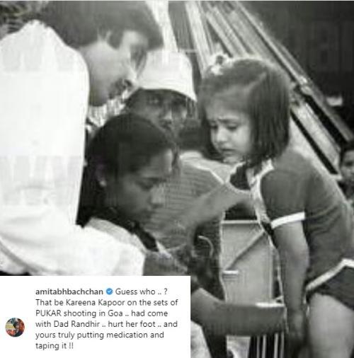 Amitabh Bachchan unggah foto lawas bersama Kareena Kapoor. (Foto: Instagram)