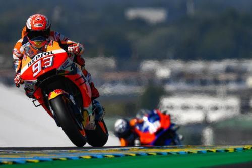Marc Marquez melaju kencang di Sirkuit Le Mans (Foto: MotoGP)