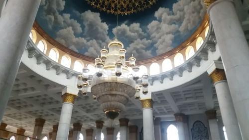 Arsitektur Masjid Kubah Emas di Depok, Jawa Barat (foto: Wahyu Muntinanto/Okezone)