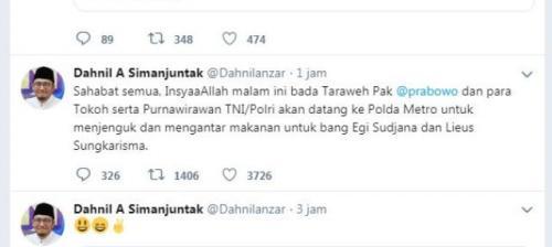 Tweet Dahnil Anzar