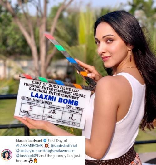 Aktris Kiara Advani akan berperan sebagai istri Akshay Kumar dalam Laxmmi Bomb. (Foto: Instagram)