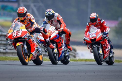 Marc Marquez, Jack Miller dan Andrea Dovizioso (Foto: MotoGP)