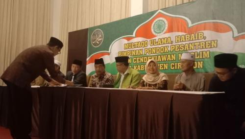 MUI dan Para Ulama Cirebon Sepakat Tolak Ajakan Aksi 22 Mei di Jakarta (foto: Fathnur Rohman/Okezone)