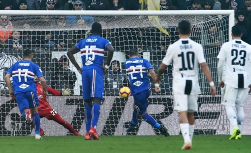 Fabio Quagliarella mencetak gol di pertemuan pertama kedua tim (Foto: Laman resmi Sampdoria)