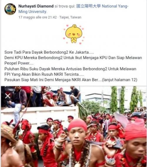 Hoaks Suku Dayak di Media Sosial