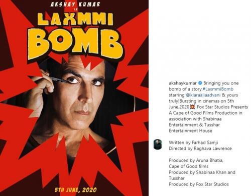 Akshay Kumar merilis foto perdana film terbarunya, Laxmmi Bomb, di mana dia berperan sebagai transgender. (Foto: Instagram)