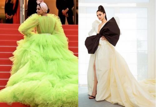 Perempuan memakai gaun