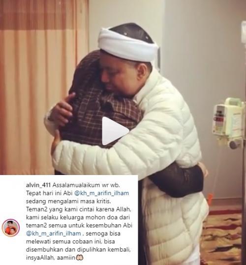 Alvin Faiz mengungkapkan, kondisi Ustadz Arifin Ilham dalam kondisi kritis di Penang, Malaysia. (Foto: Instagram)