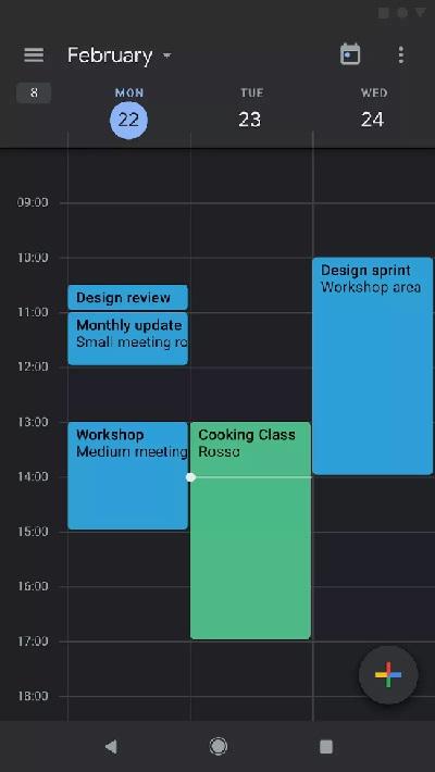 Mode Gelap Google Kalender