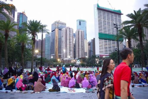 Buruh Migran Indonesia di Victoria Park Hongkong