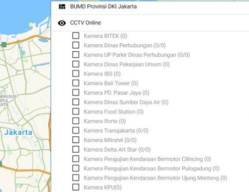 Pantau Jakarta lewat CCTV di Jakarta Smart City