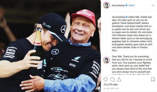 Posting-an Nico Rosberg