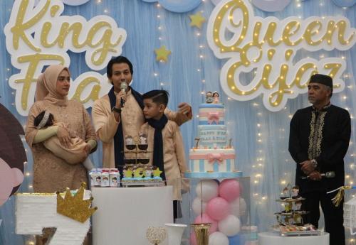 Fairuz A Rafiq dan suami memutuskan untuk merayakan tiga momen penting sekaligus dalam satu pesta. (Foto: Okezone/Rena Pangesti)