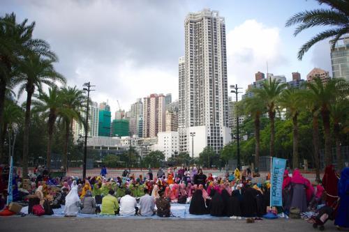 Dompet Dhuafa Bersama Buruh Migran Indonesia di Hong Kong
