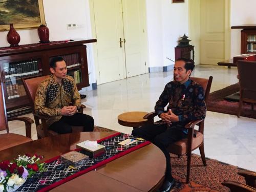 AHY saat bertemu Jokowi