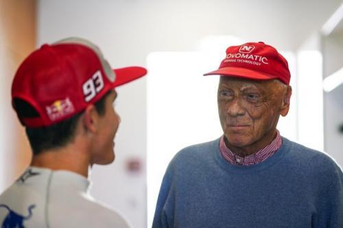 Niki Lauda bersama Marc Marquez (Foto: Marc Marquez/Twitter)