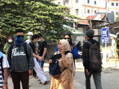 Situasi Aksi 22 Mei di Tanah Abang. (Foto: Muhammad Sukardi/Okezone)