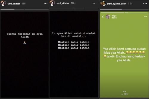 Pesan istri-istri Arifin Ilham