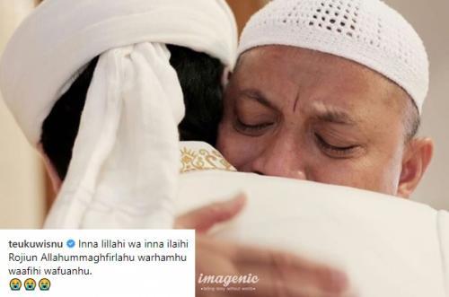 Ungkapan Duka Teuku Wisnu untuk Ustadz Arifin Ilham. (Foto: Instagram)