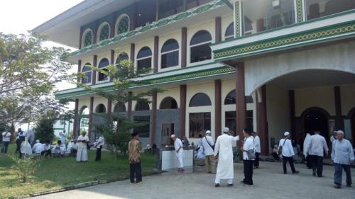 Lokasi Pemakaman Ustadz Arifin Ilham di Ponpes Az-Zikra (foto: Putra RA/Okezone)