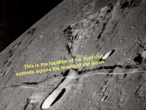 bulan terbelah menjadi dua