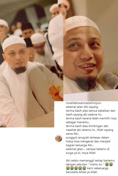 Larissa Chou mengenang Ustadz Arifin Ilham lewat sebuah pesan haru di Instagram.