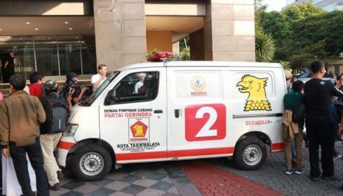 Ambulans Gerindra Bawa Batu di Aksi 22 Mei