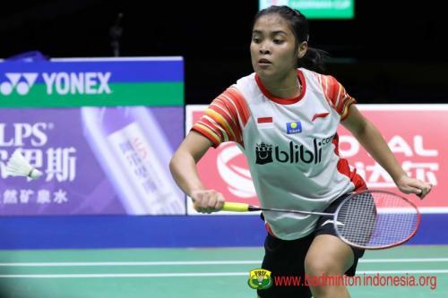 Gregoria Mariska Tunjung melangkah ke babak kedua Indonesia Open 2019