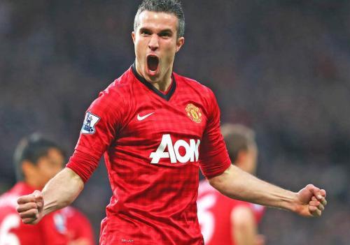 Robin van Persie saat membela Man United