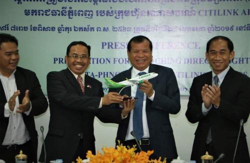 Citilink Indonesia baru saja membuka rute penerbangan internasional langsung Jakarta-Kamboja.