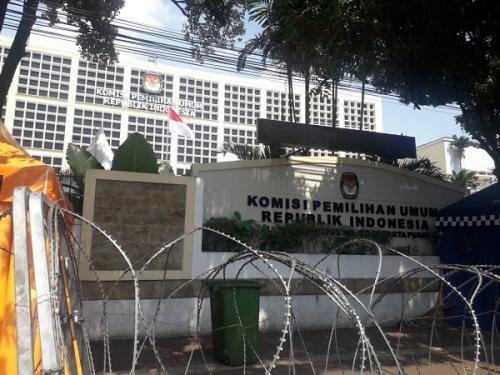 Gedung KPU, Jalan Imam Bonjol, Jakarta (Foto : Achmad Fardiansyah/Okezone)