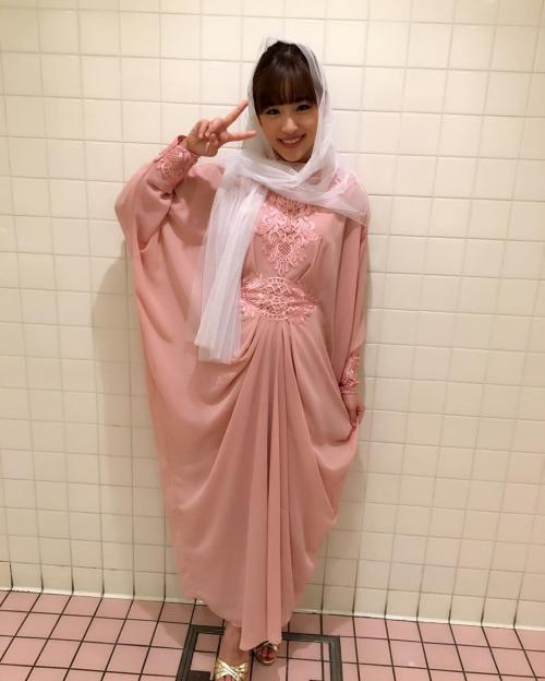 Haruka pakai hijab