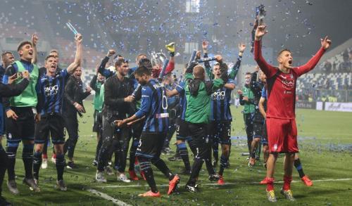 Kegembiraan skuad Atalanta (Foto: Laman resmi Atalanta)