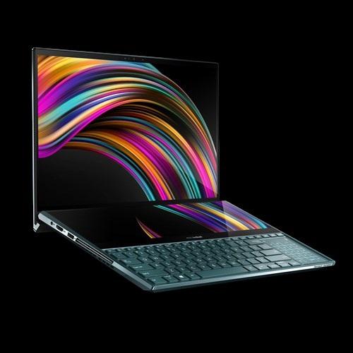 Laptop Asus Zenbook dengan layar ganda meluncur