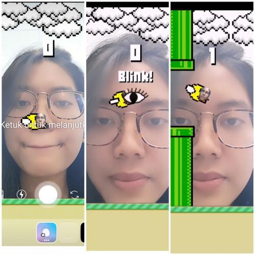 Menjajal Flying Face di Instagram Stories
