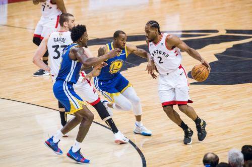 Toronto Raptors vs Golden State Warriors (Foto: @Raptors/Twitter)