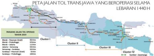 Peta Jalan Tol Trans-Jawa. (Foto: PT Jasa Marga)