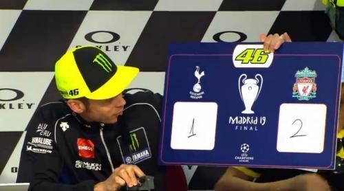 Valentino Rossi memprediksi Liverpool menang dengan skor 2-1 (Foto: MotoGP)